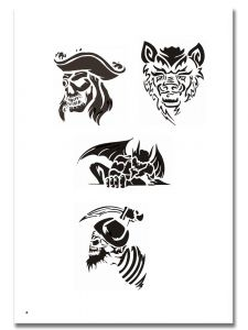 Airbrush Tattoo Schablone 313