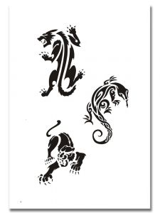 Airbrush Tattoo Schablone 312