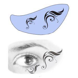 Airbrush Schablonen Eyeflash 19