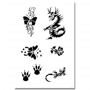 Airbrush Tattoo Stencil 324