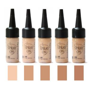 Airbrush Make-up Foundation Tester SET - olive- SILICONE BASE