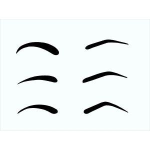 Schablone Augenbrauen