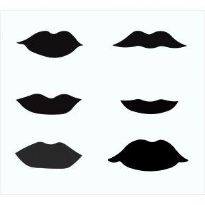 Schablone Lippen