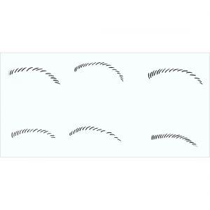 Schablone Augenbrauen 2