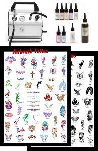 Airbrush Tattoo Nr 2 Profi Standard Komplettausstattung