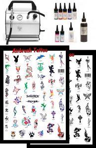 Airbrush Tattoo Nr 1 Profi Standard Komplettausstattung
