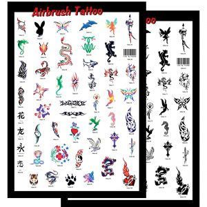 Airbrush Schablonen Set Tattoo 1