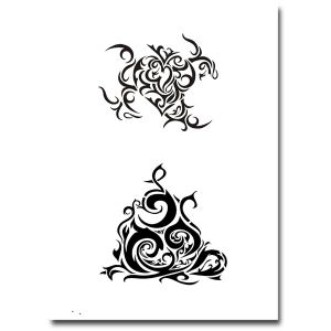 Airbrush Tattoo Schablone 310